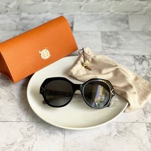 NEW Tory Burch 53mm Polarized Geometric Sunglasses